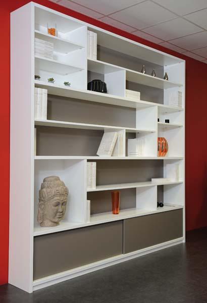 Meuble sous pente sous escalier sur mesure agem - Bibliotheque meuble habitat ...
